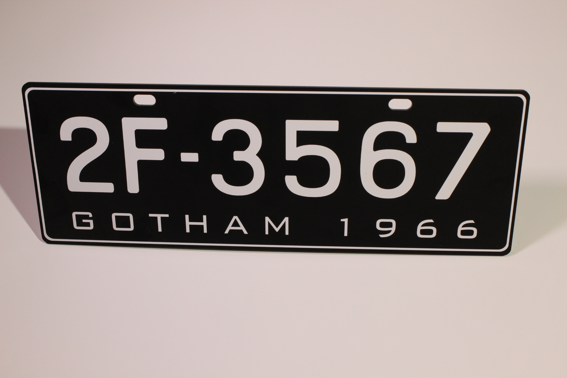 Batmobile License Plates